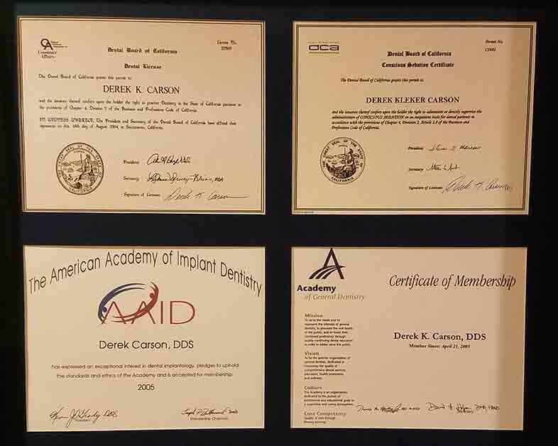 Dental Membership Certifications