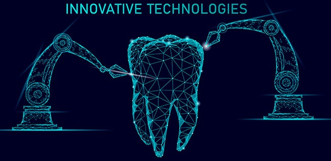 3D tooth being built by technology