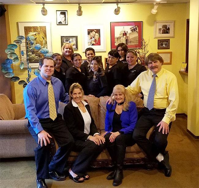 Carson & Carson, DDS Oxnard dental staff in lobby