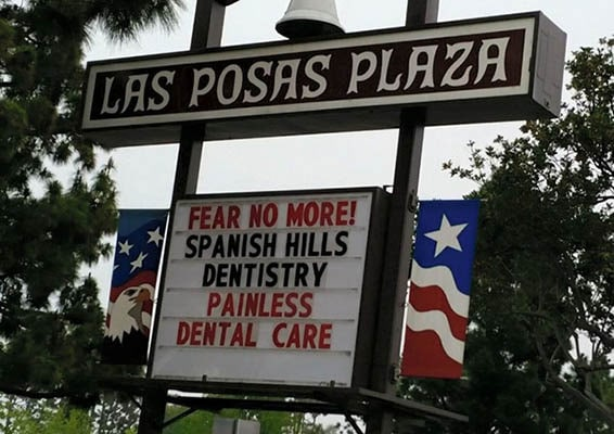 Spanish Hills Dentistry sign