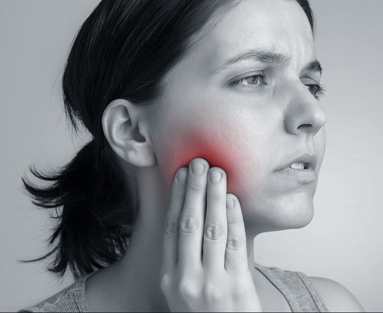 TMJ is accompanied by jaw pain.