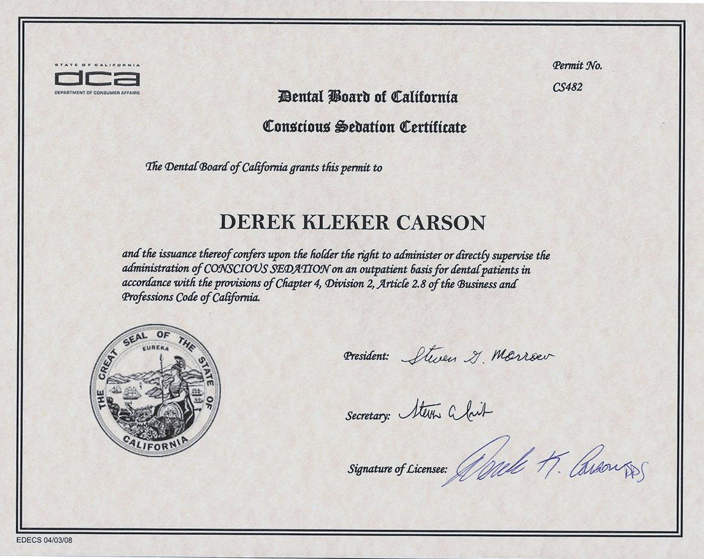 Dr Derek K Carsons Dental History Carsondds Oxnard Dentist
